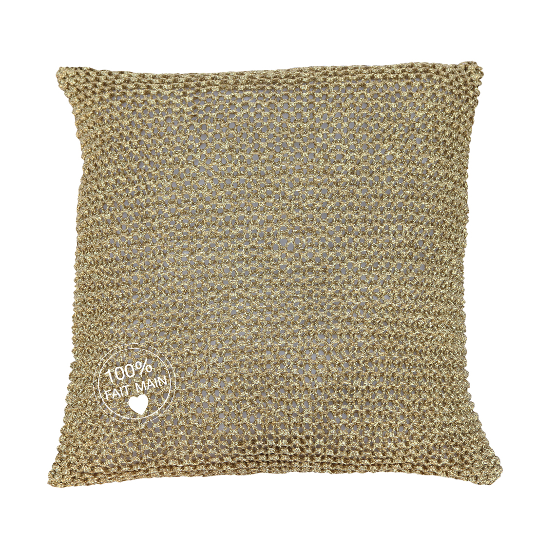 coussin bronze or