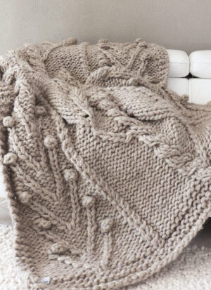 plaid grosse maille taupe